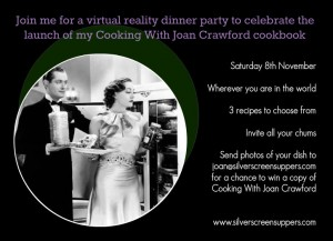 Joan Crawford Party Invite
